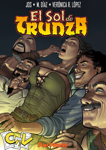 inside cover of Sol de Trunza comic, done by RU-MOR, published by Carmona en Viñetas