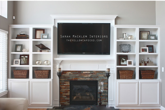 Hanging Your TV over the Fireplace: Yea or Nay? | Driven by Decor