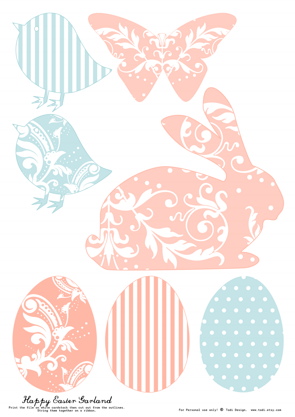 Todi Free Printables For Easter Decoration