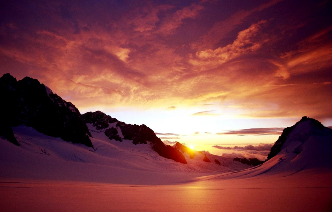 snow sunset wallpapers wallpapers craftmountain snow sunset wallpaper and background image 1440x900