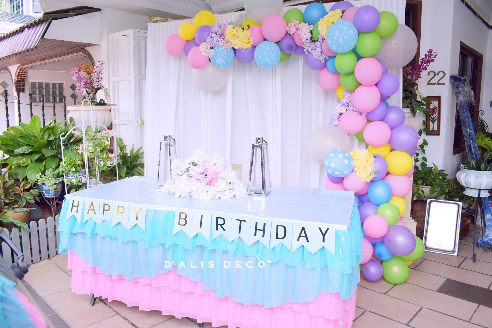 D Alis Deco Birthday Colourful