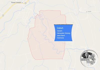 PETA Desa Dukuh, Kecamatan Ciasem