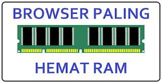 Browser paling hemat RAM di Laptop/Komputer
