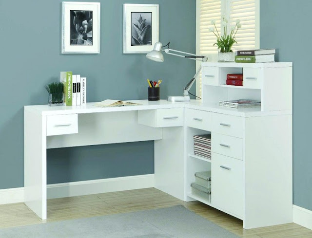 best white home office desk colors ideas with drawers for corner desk
