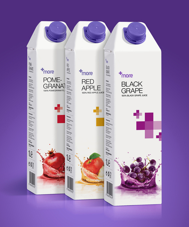 MORE Fruit Juice Packaging Design