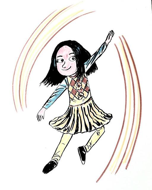 Mi hija Ariadna bailando
