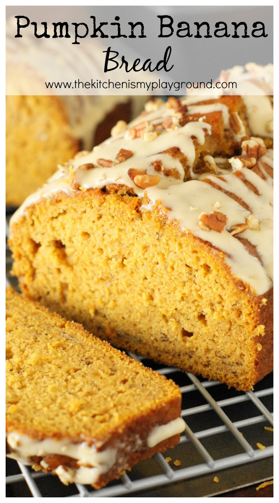 Pumpkin Banana Bread with Honey Glaze ~ combine two great quick bread ...