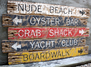 oyster beach sign