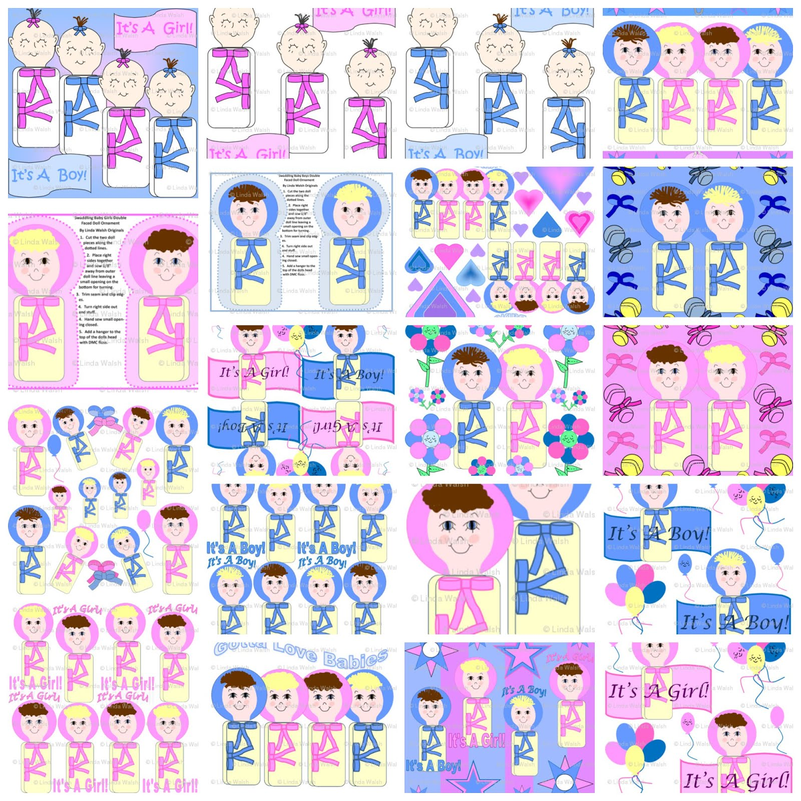 Swaddling Babies Custom Fabric Collection