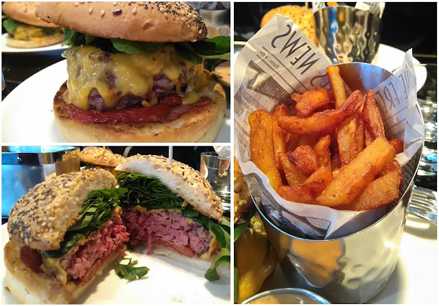 cheeseburger, burger, Chez Franklin, restaurant, Nantes, bistrot, bullelodie