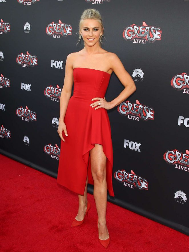 Julianne Hough goes strapless for the Grease event in Hollywood
