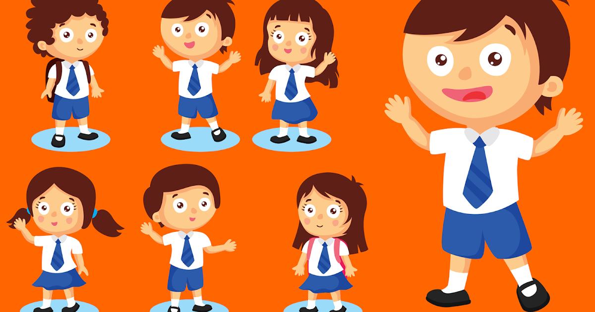 Menggambar Kartun Anak Sekolah Di Corel Draw Bacabareng