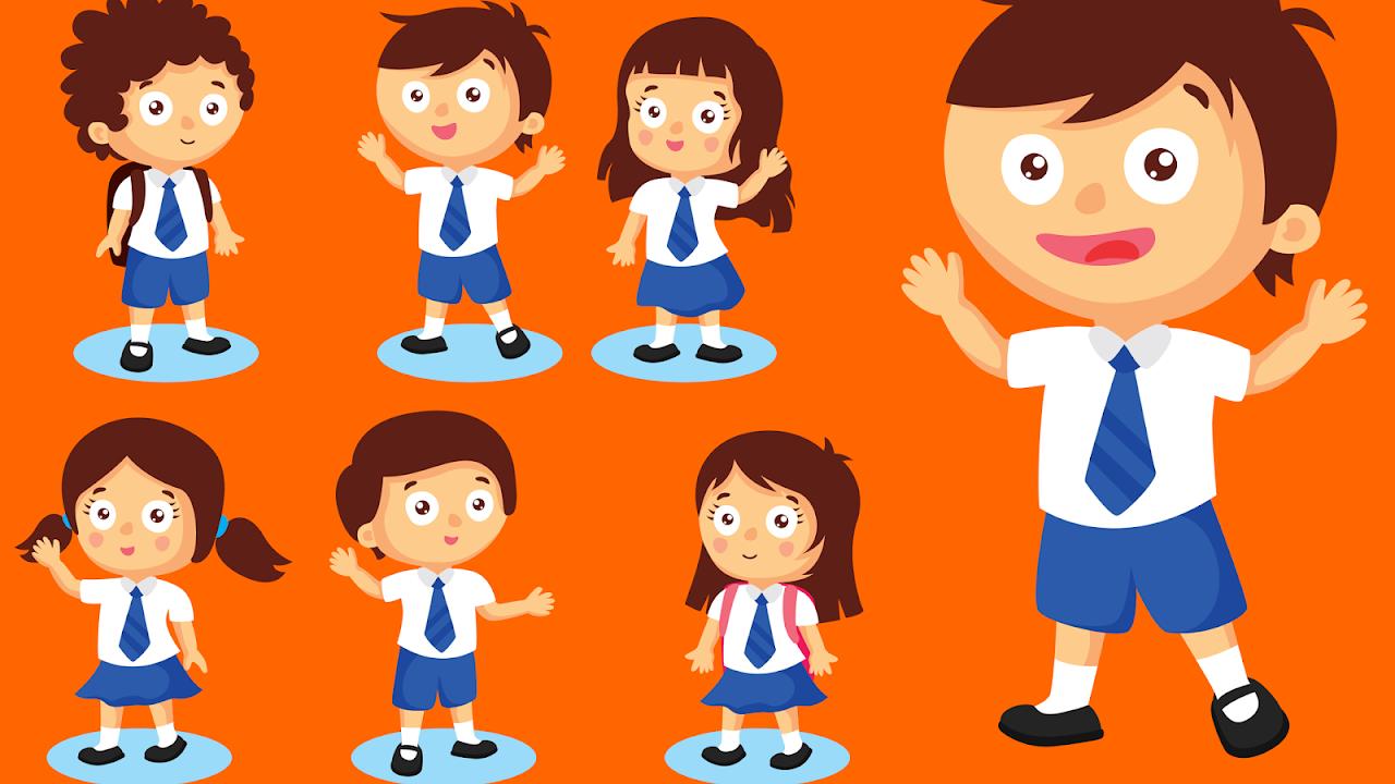 Gambar Kartun Orang Sekolah
