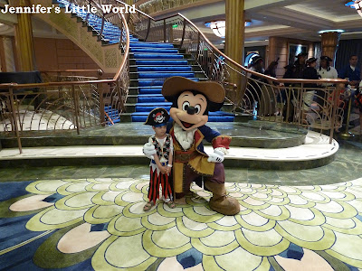 Meeting Mickey Mouse on the Disney Fantasy cruise ship