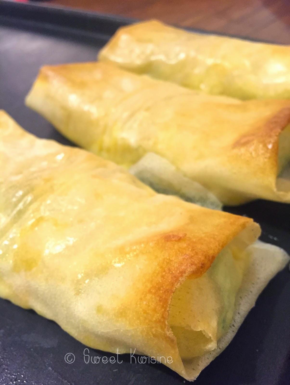 sweet kwisine, féta, courgettes, feuilles de brick, régime, healthy food, fatfree, cuisine légère, cuisine facile, diner rapide