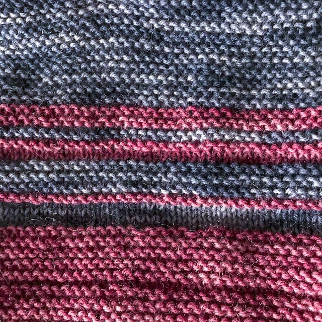 tröja, sweather, rätstickning, garterstich
