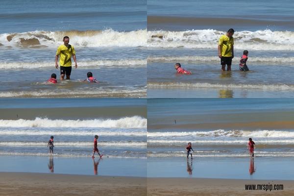 Berhujung minggu di Pantai Pimping