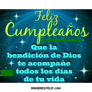 Feliz Cumpleaños Hombres. Que la bendición de Dios te acompañe siempre. Tarjeta para saludar a un hombre cristiano