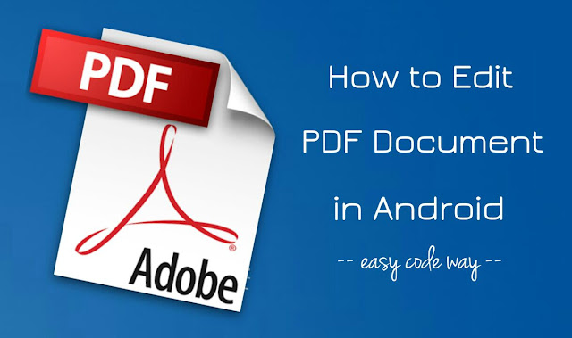 Edit PDF files in Android
