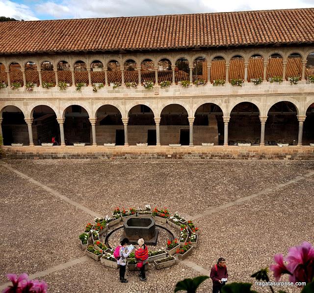 Qorikancha, o Templo do Sol, em Cusco
