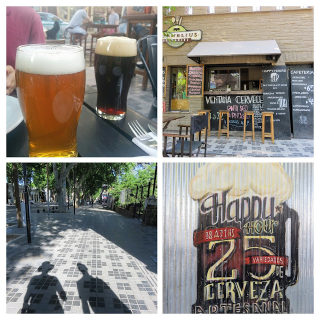Collage of craft beer places on Aristedes Villanueva in Mendoza Argentina