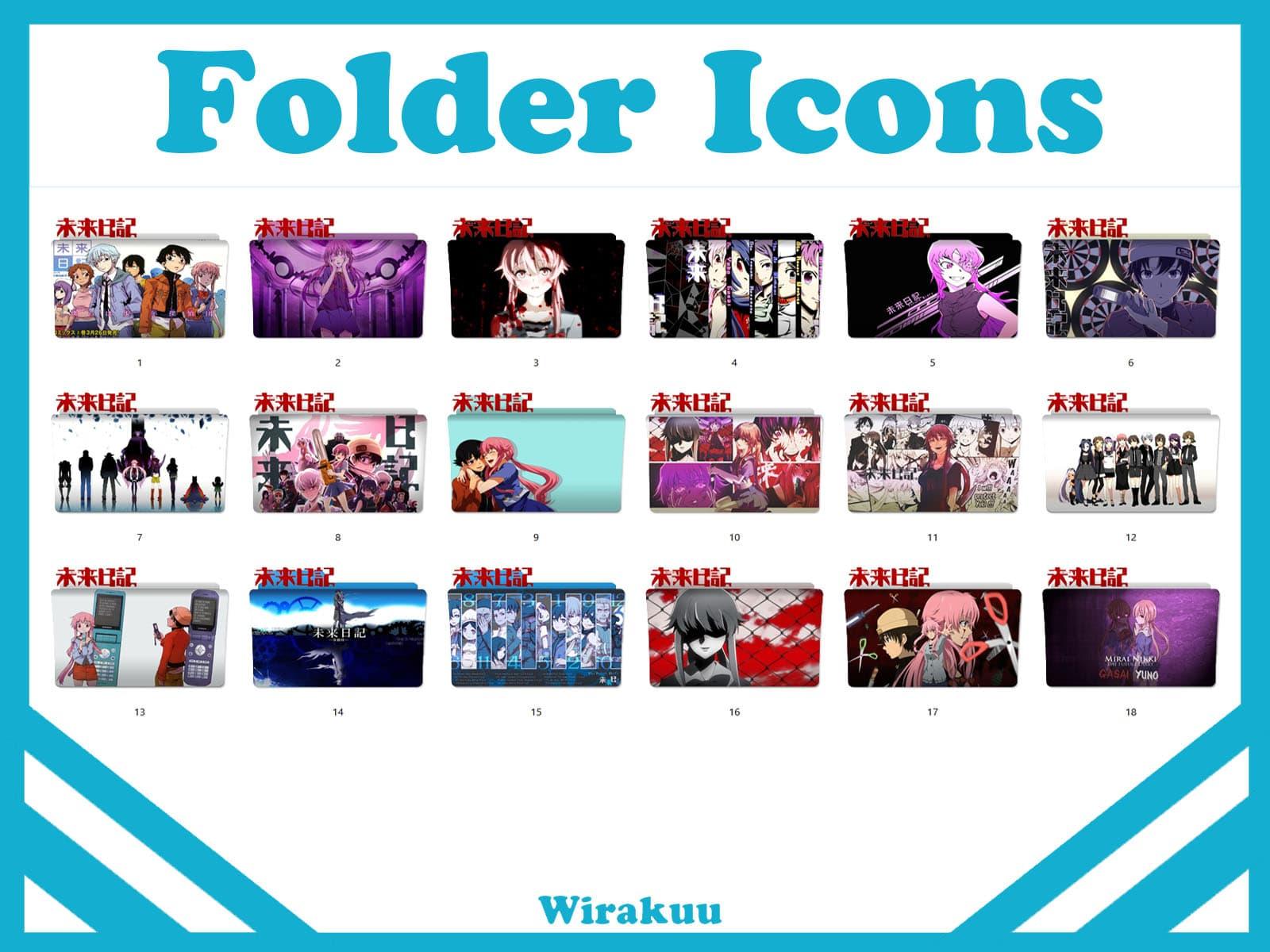 Folder Icons Anime Mirai Nikki