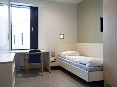 Halden Prison, Norway. Cells look  like College dorm bedrooms.