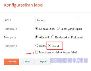 membuat label cloud keren