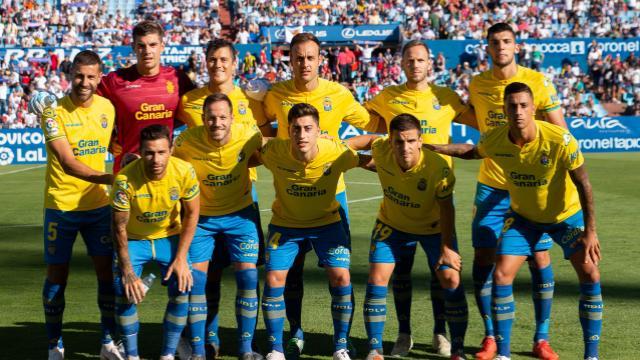 Alineación inicial UD Las Palmas en La Romareda