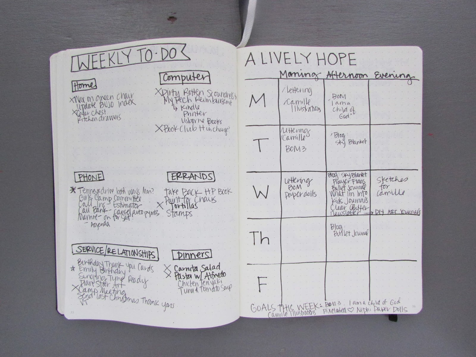 Lively Hope: My First Month Bullet Journaling