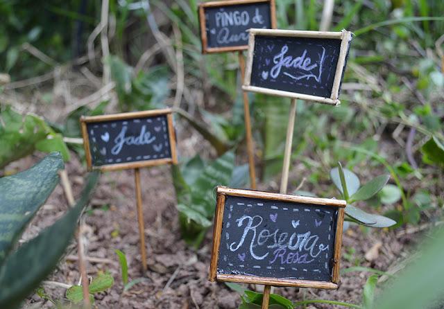 DIY: Plaquinhas para Plantas e Horta