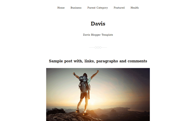 Davis Free Blogger Template