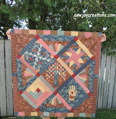 on point round robin challenge quilt civil war fabric