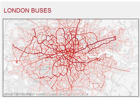 Linie autobusowe w Londynie