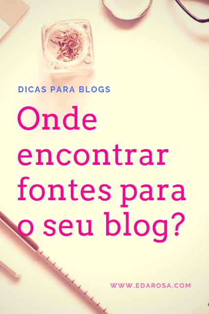 ideias de fontes para blogs