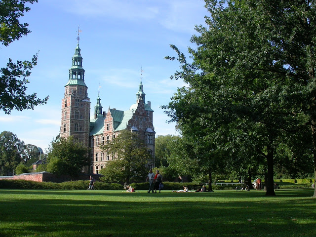 View of the park of Rosenborg Castle, Copenhagen