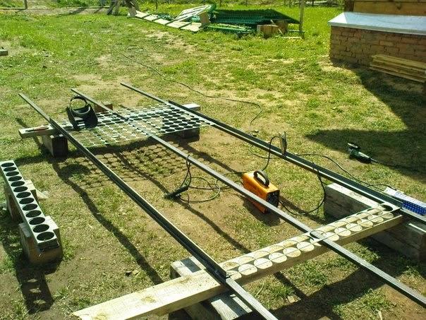 забор на дачу своими руками, заборы и ворота, забор из просечек