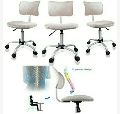 Orveay Chair - Ergonomically Designed Armless Office Seat