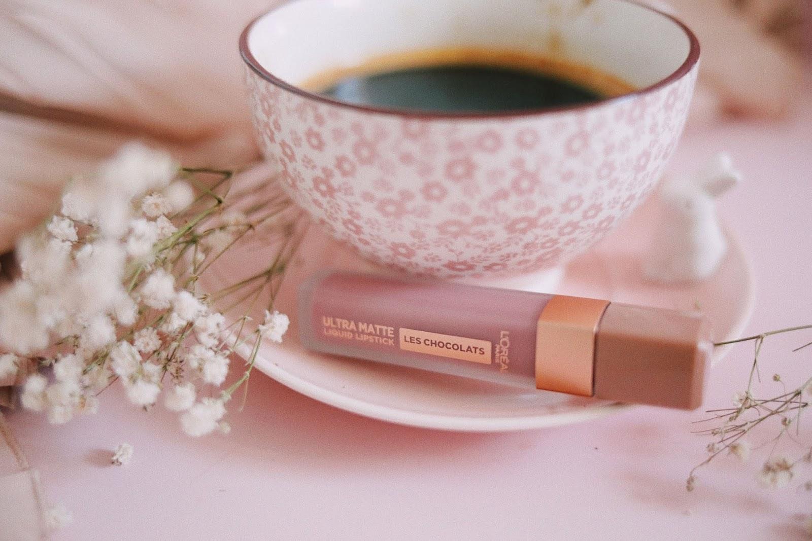 les chocolats ultra matte , l'oréal paris , infaillible, revue , avis , 842 Candy Man , 848 Dose Of Cocoa , Swatch ,rose mademoiselle , rosemademoiselle , blog beauté , paris ,