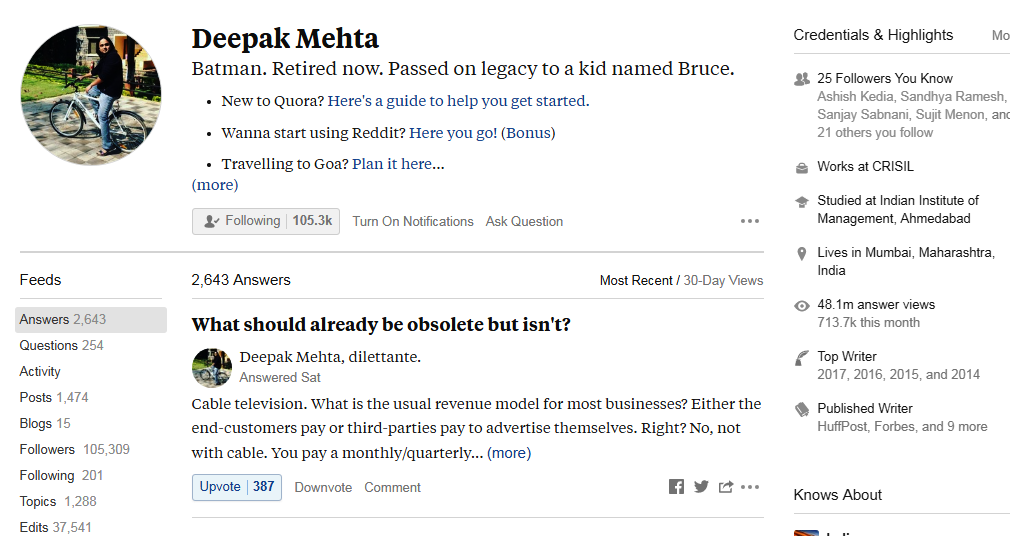 Top 10 Quora Influencers in India - Digital Marketing Chapters