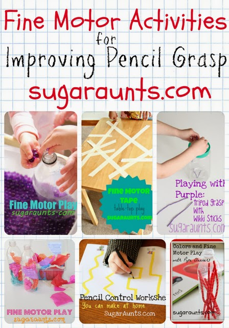 Kids will love these fine motor activities when working on pencil grasp!