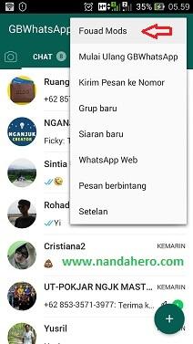 Bagi pengguna aplikasi GB Whatsapp untuk  Gampang! Tutorial Mengmengganti Tema WhatsApp tanpa Aplikasi Tambahan (GBWhatsApp)
