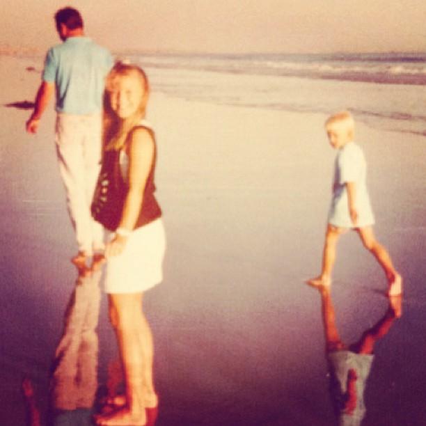 80s tbt on the beach