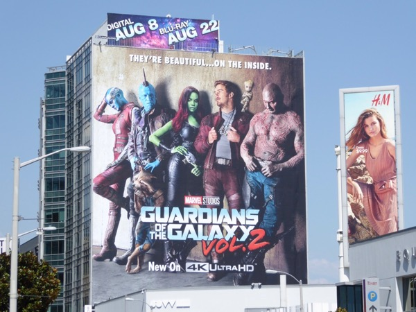 Guardians of Galaxy 2 Blu-ray billboard