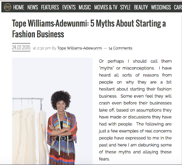 BN Article 3: 5 Myths About Starting a Fashion Business