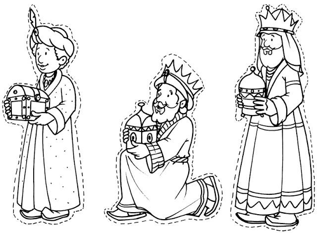 Dibujos De Los 3 Reyes Magos Para Colorear: Maestra De Infantil: Reyes Magos Para Colorear