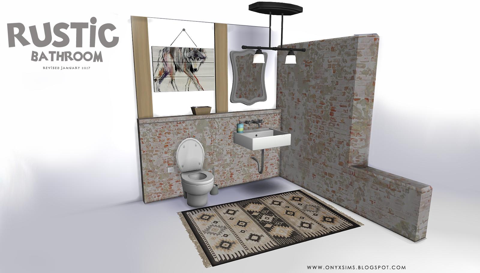 my sims 4 blog updated rustic bathroom set by kiararawks