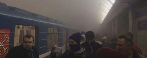 Varios muertos por explosión en el metro de San Petersburgo