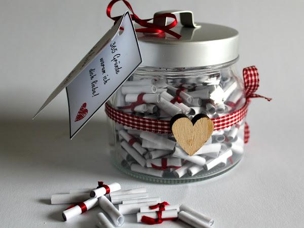 ♡♡♡ Die perfekte Geschenkidee: DIY 365 Gründe warum ich dich liebe! selber machen ♡♡♡