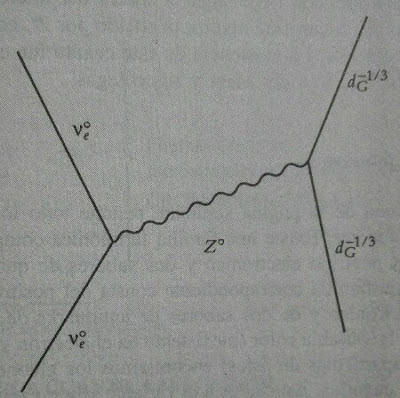 Diagrama de Feynman de la dispersion de un neutrino